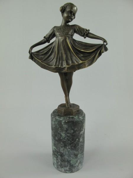 Figur Bronze Tänzerin H.32x14cm