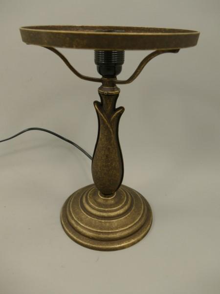 Pilzlampe FUSS Messing brüniert H.42cm