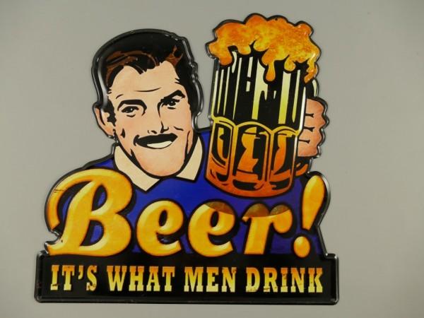 Wandschild(Gestanzt) Eisen Beer H.42x42cm
