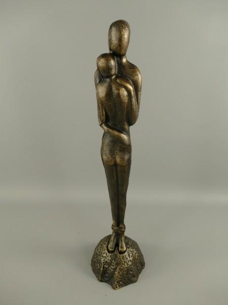 Skulptur eines Umarmen paares Gusseisen H.65x16cm