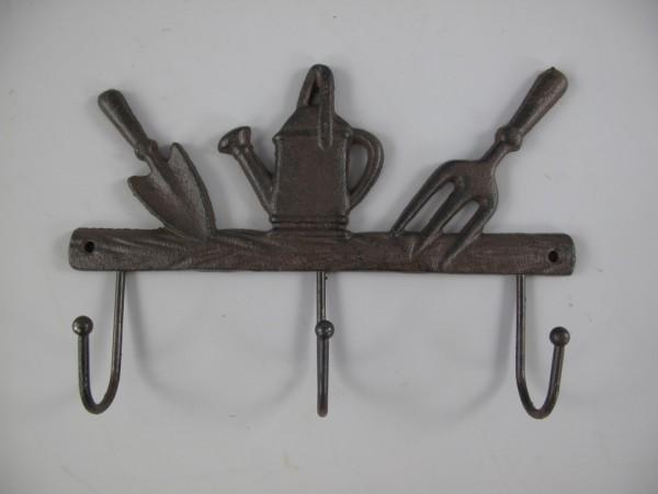 Wandhaken Eisen rustikal braun L.25x17cm