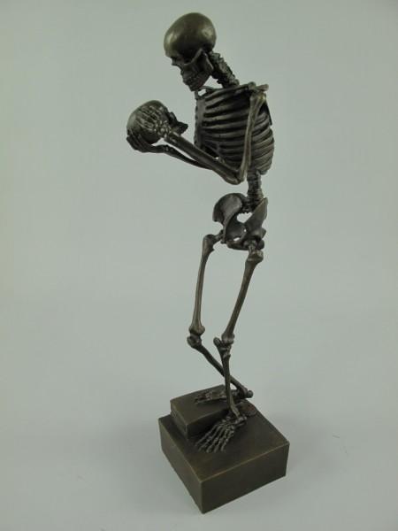 Figur Bronze Skelett H.31x10cm