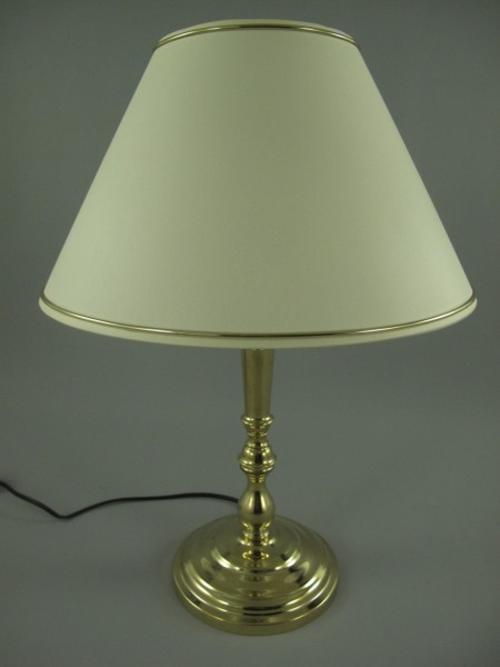 *ANG. Lampe Messing Schirm(144.01R35G) H.50cm