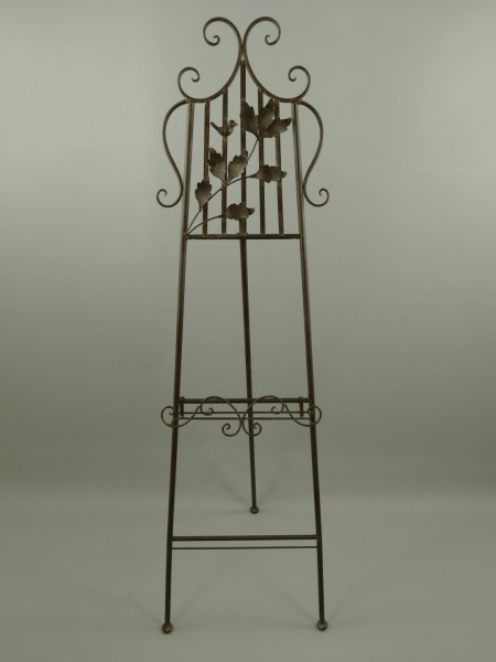 ?(*)Staffelei Antik Eisen rostig farbig H.163x50cm