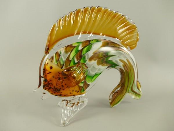 Glasfigur Murano styl Fische farbe L.23x20cm