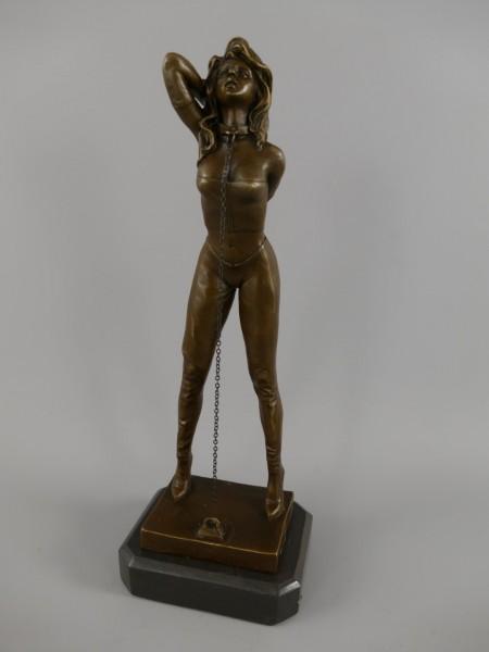 *A? Bronze Figur FRAU H.35x12cm
