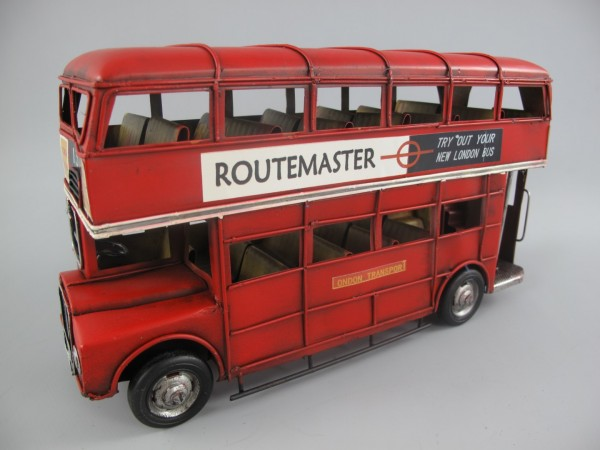 Autobus Antik Eisen rot L.33x19x11cm