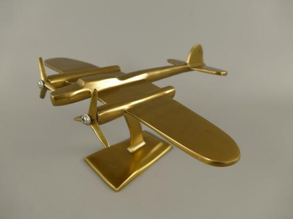 Flugzeug Aluminium BRONZE farbig L.31x38cm