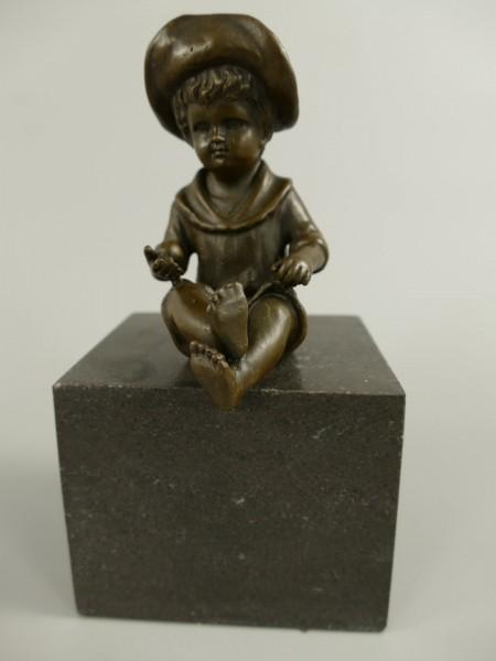Figur Bronze Boy H.16x9cm