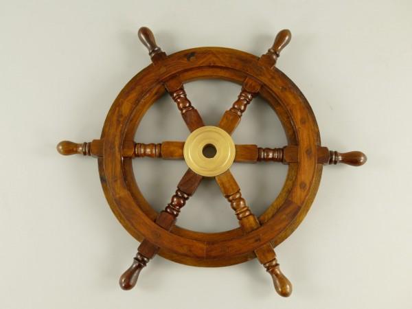 Schiffssteuerrad Messing/Holz D.46cm