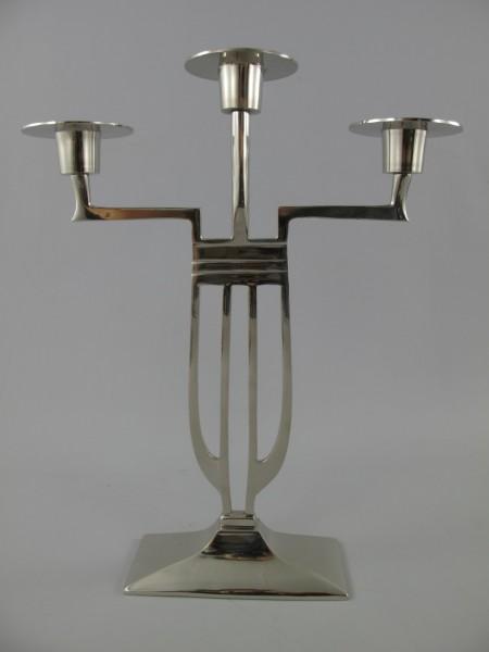 *ANG. Leuchter vernickelt H.38x19cm