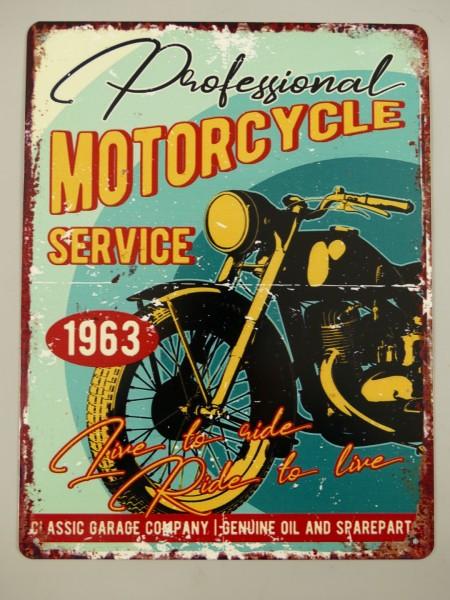Wandschild Eisen Motorcycle Service H.33x25cm