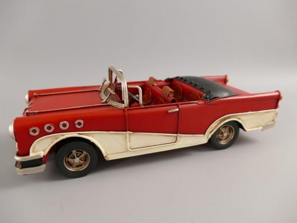 Auto rot/weiss Antik Eisen L.25x7cm