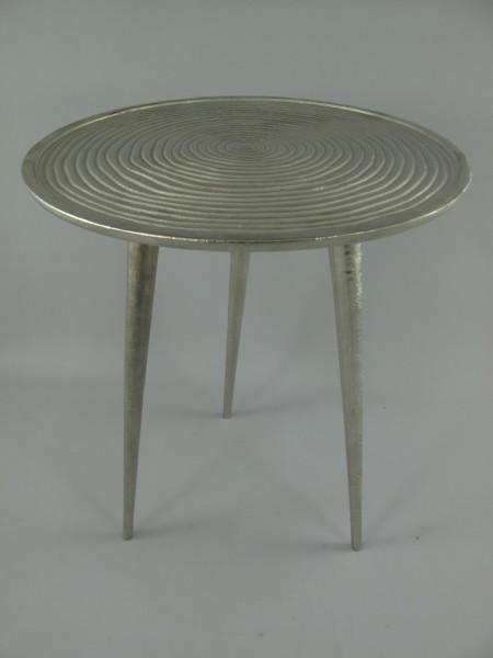 Tisch ALU vernickelt H.51-D.40cm