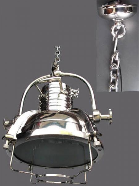 Hanglampe ALU vernickelt H.120-D.45cm