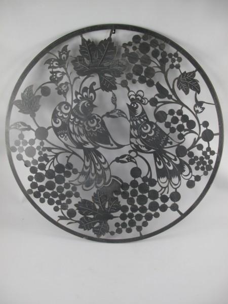 (*S) Ornament Eisen rustikal VOGEL D.94x1cm