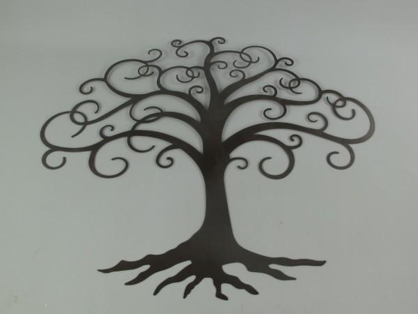 Wand Ornament Eisen BAUM H.95x75cm