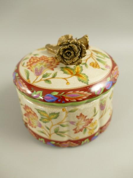 Box rund Porzellan/Messing fabig D.12cm