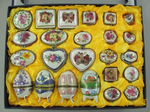 Porzellan dozen/Ei mini Set/24St. L.4/10cm
