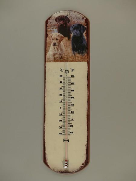 Termometer Antik Eisen Hund H.48x13cm