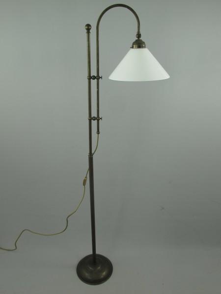Lampe Messing brüniert Schirm(151.100W30) H.175cm