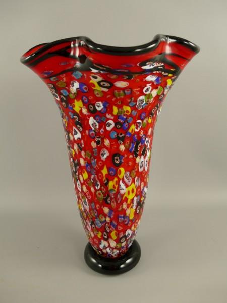 Glas Vase farbe H.49x32cm