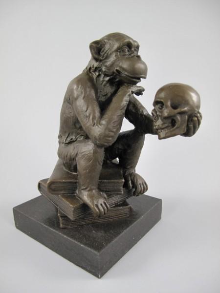 Figur Bronze AFFE H.14x12cm