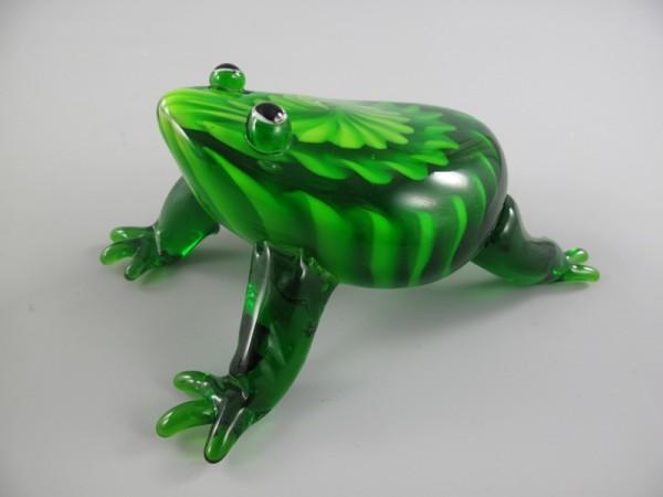 Glasfigur Frosch farbe H.15cm