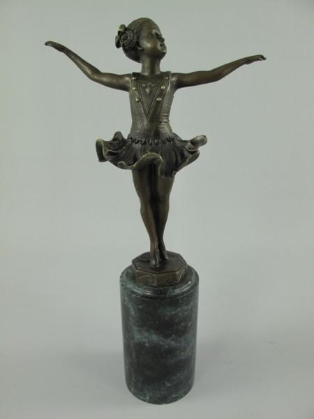 Figur Bronze Tänzerin H.32x16cm
