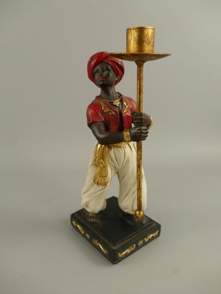 Leuchter/Figur 1*Flamig farbig H.28x12cm