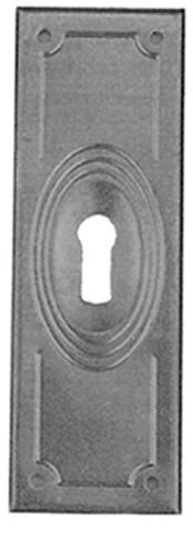 Beschlag Messing brüniert mit Loch 32x95mm
