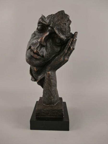 Denker Polystein Bronze farbig H.33x15cm