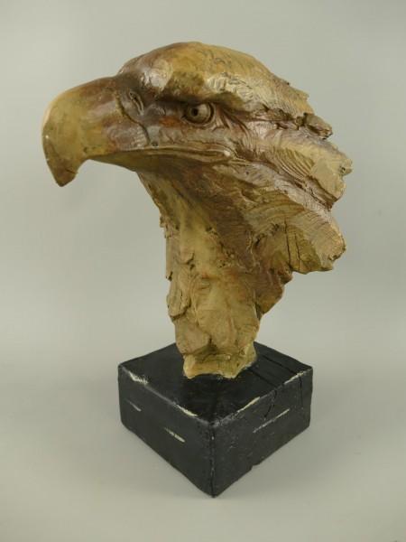 Figur Polystein Adler farbig H.29x15cm