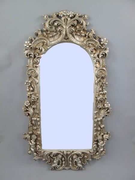 *ANG. Spiegel eckig lang (Silber) H.120cm