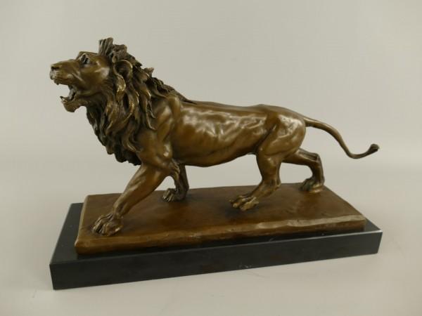Bronze Figur Löwe H.25x38cm