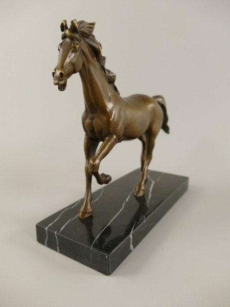 Figur Bronze Pferd H.18x21cm