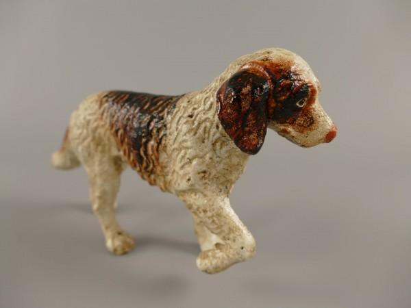 Hund Gußeisen farbig H.11cm