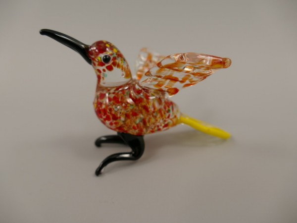 *ANG. Glasfigur Murano styl Vogel L.10x6cm