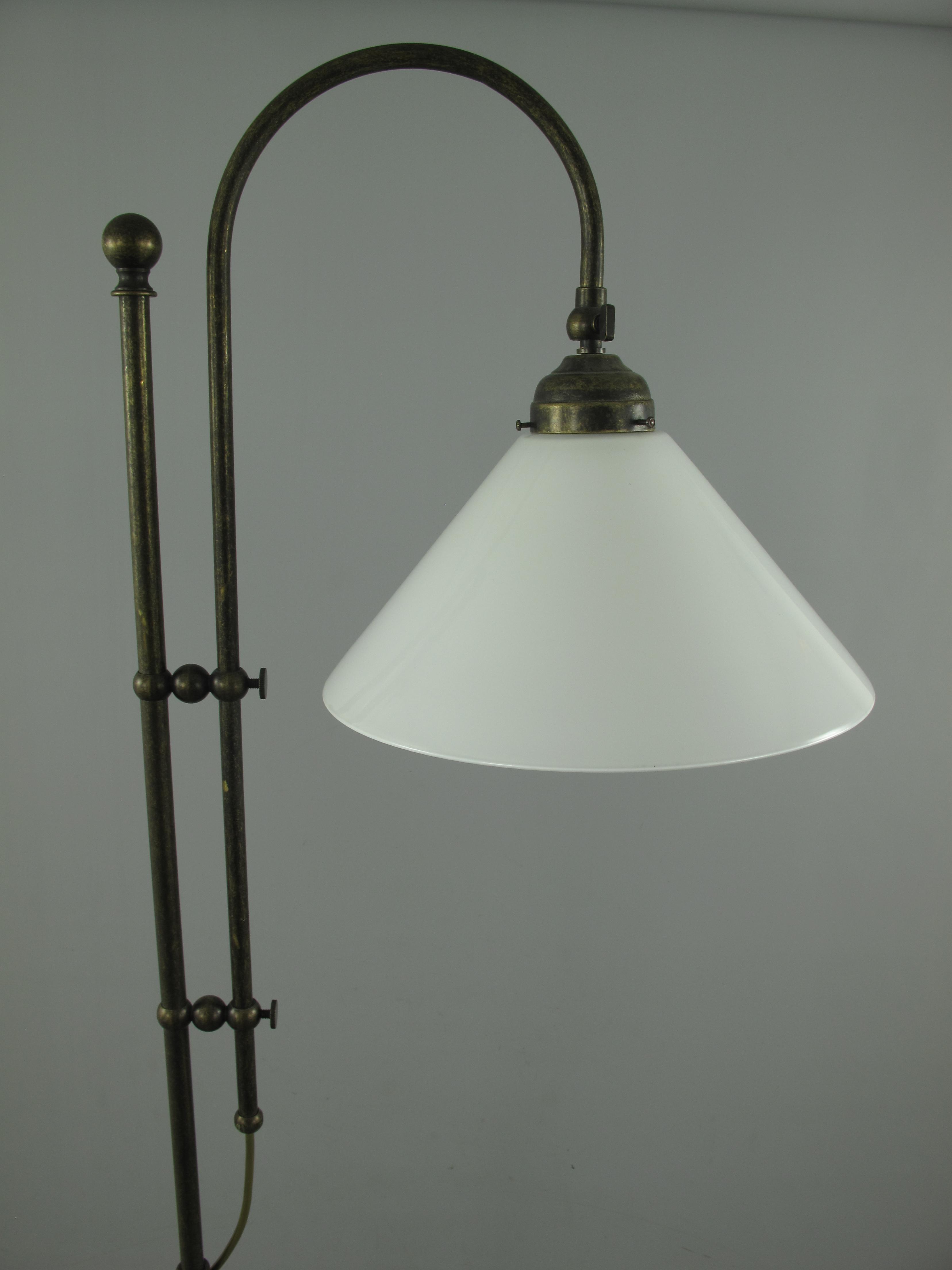 Lampe Messing Bruniert Schirm 151 100w30 H 175cm Stehlampen
