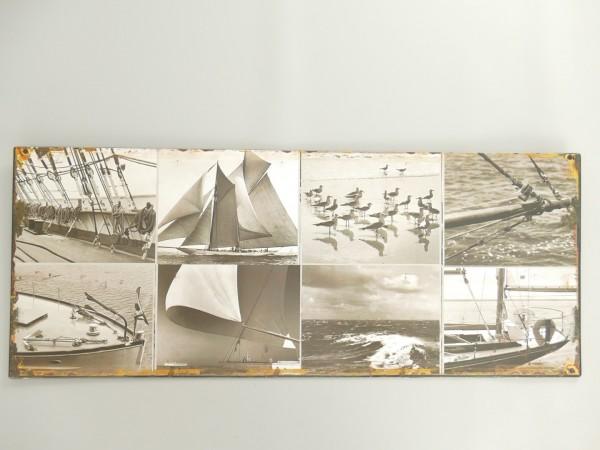 Wandschild Eisen Schiff H.20x50cm