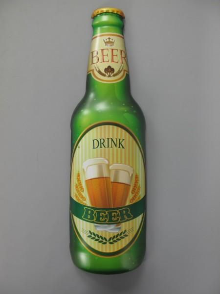 Wandschild(Gestanzt) Eisen Drink Beer H.61x18cm