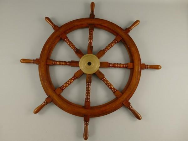 (*)Schiffssteuerrad Messing/Holz D.125cm