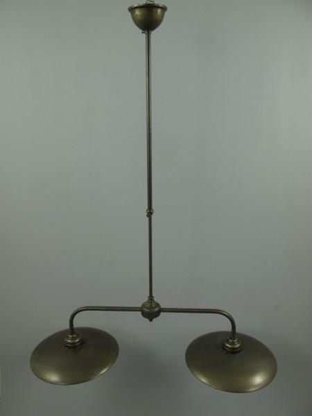 Lampe Messing brüniert Schirm2x(130.090-2) H.37cm