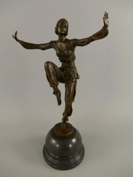 Figur Bronze Frau H.40x23cm