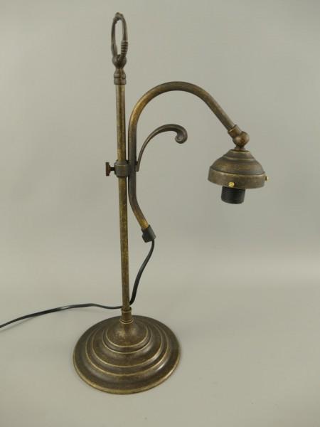 Stehlampe Messing brüniert ohne Schirm H.43cm