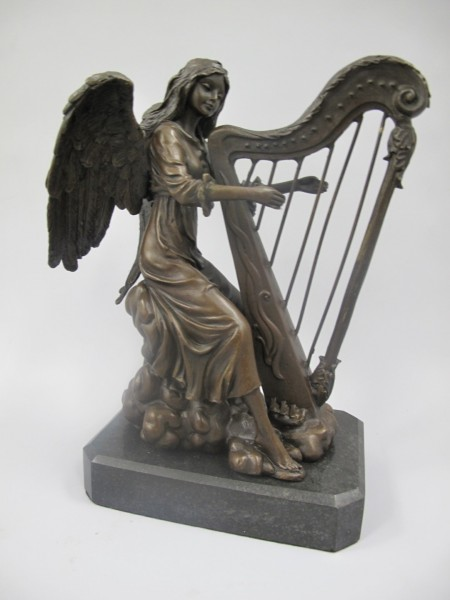 Figur Bronze ENGEL H.24x19cm
