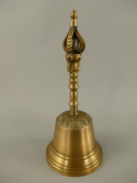 Tischglocke Messing brüniert Krone H.20cm
