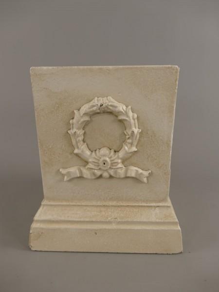 Fuss Urn Antik WEISS Eisen H.20x17cm