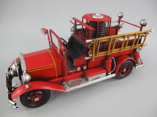 Feuerwehrwagen Antik Eisen L.36x17cm