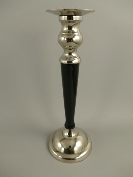 Leuchter vernickelt/schwarz H.32x12cm